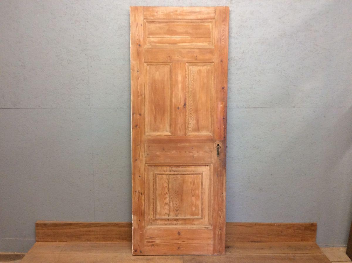 Stripped 4 Panel Door 1 over 2 over 1