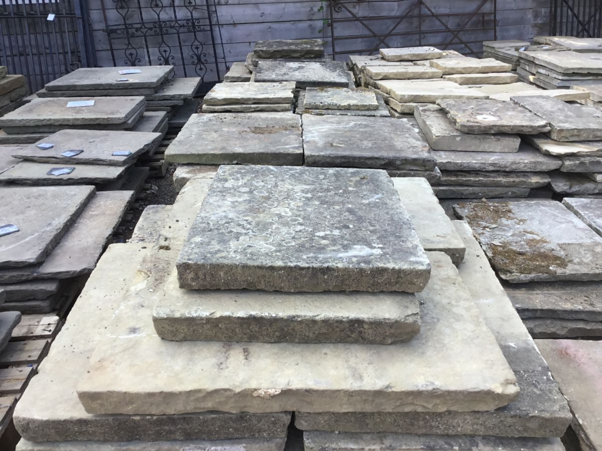 Weathered Thick Reclaimed York Stone Paving