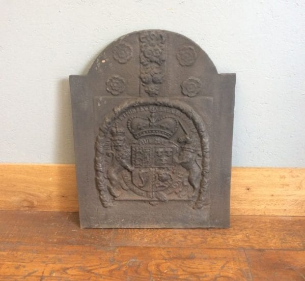 Royal Crest Cast Iron Fire Back