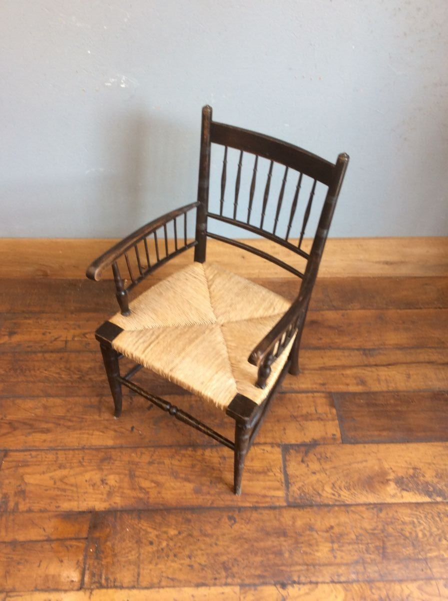 Rush Seated Carver Chair