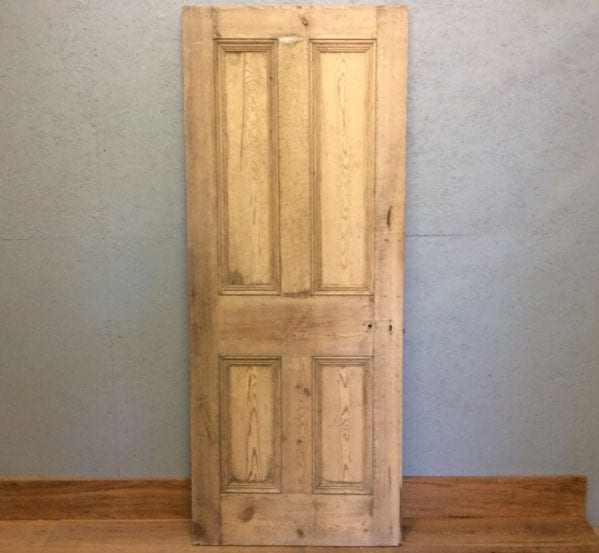 Heavy Stripped Door With Four Panels