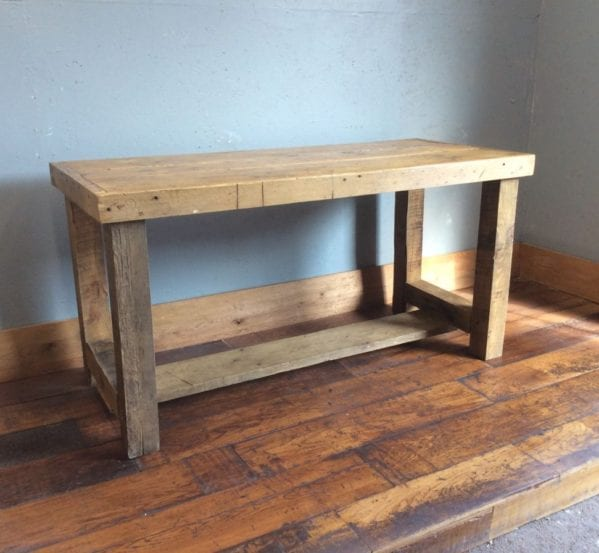 Solid Oak Work Bench