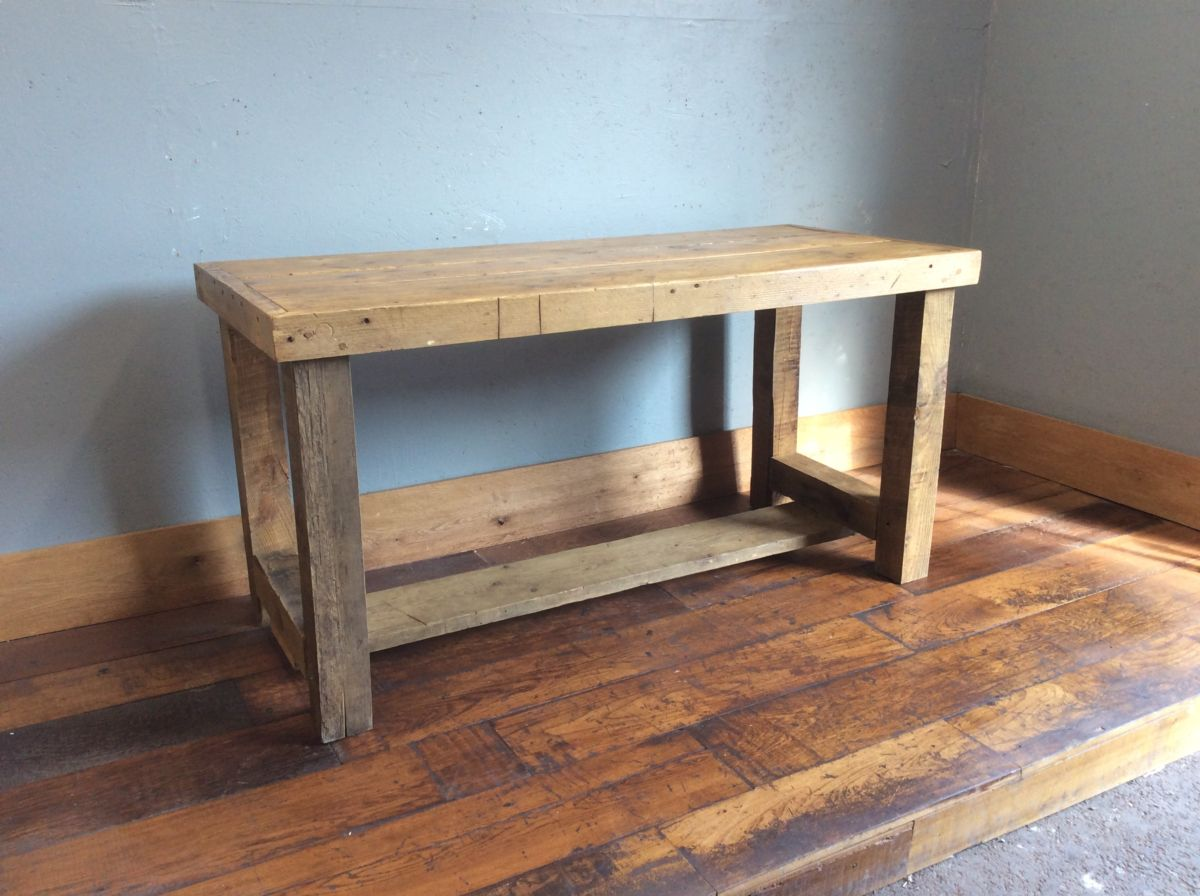 Solid Oak Work Bench