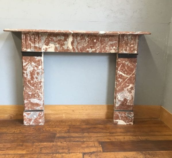 Red Marble Fire Surround