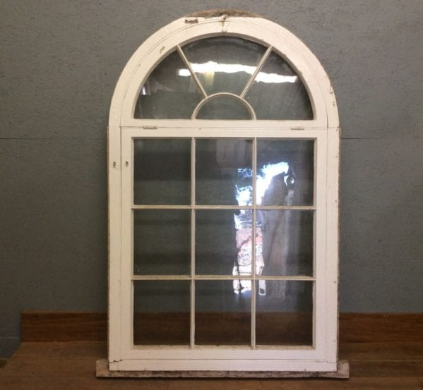 Desirable White Arched Window