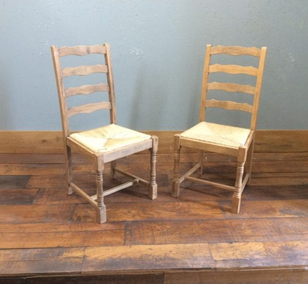 Straw Bound Pine Chairs
