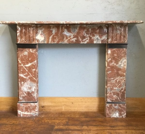 Red & Black Marble Fire Surround