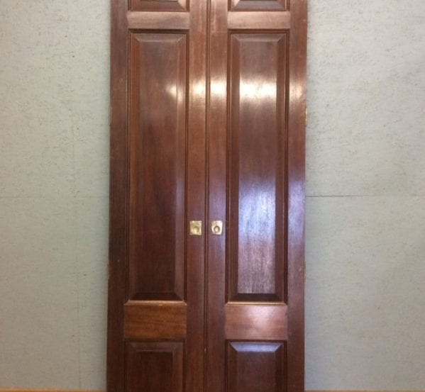 Set of Tall Mahogany Cupboard Doors