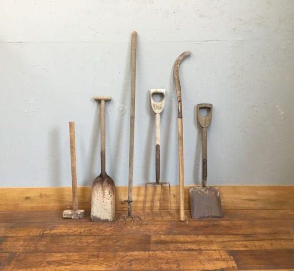 Wooden Garden Tool Selection