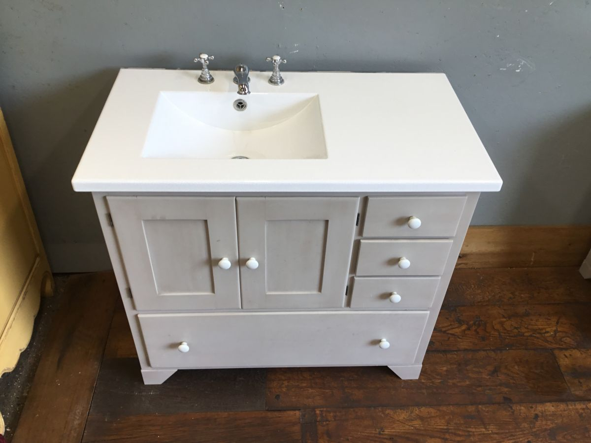 Fired Earth Washstand Bathroom Cabinet - Authentic Reclamation