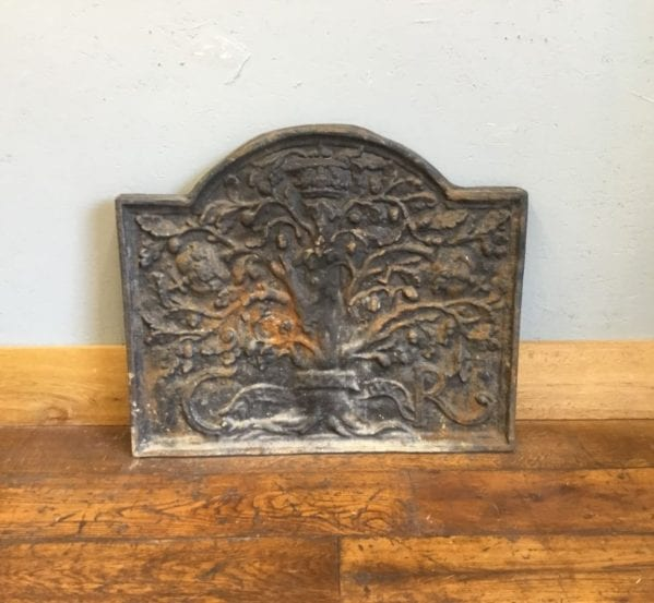 Large Cast Iron Tree Design Fire Back