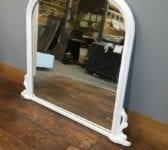 Large White Overmantel Mirror