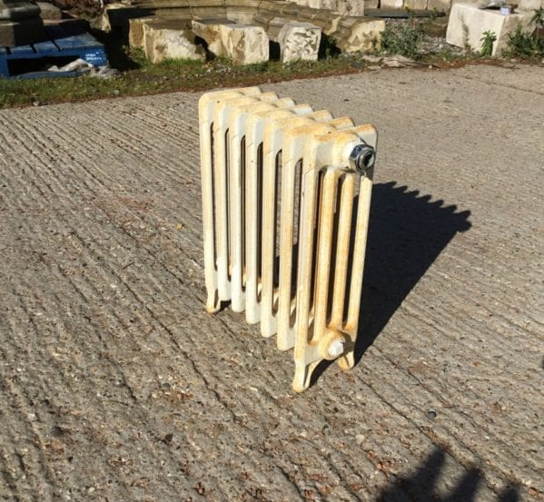 Tiny Reclaimed 4 Bar Cathedral Radiator