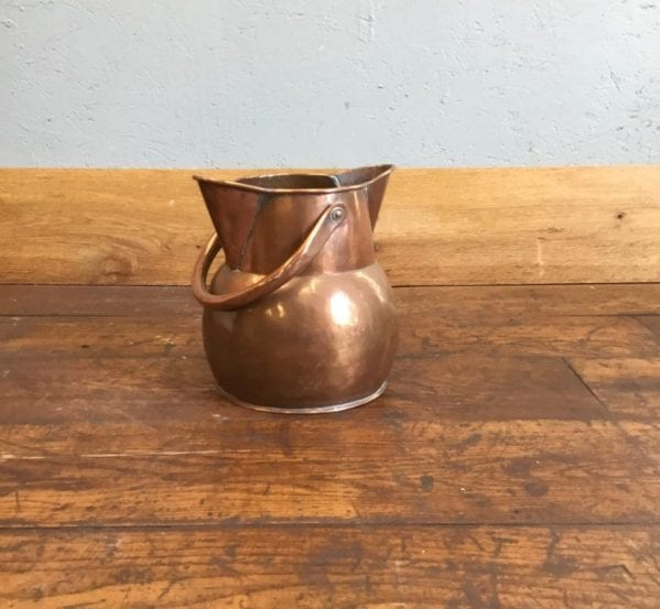 Polished Copper Handled Bucket