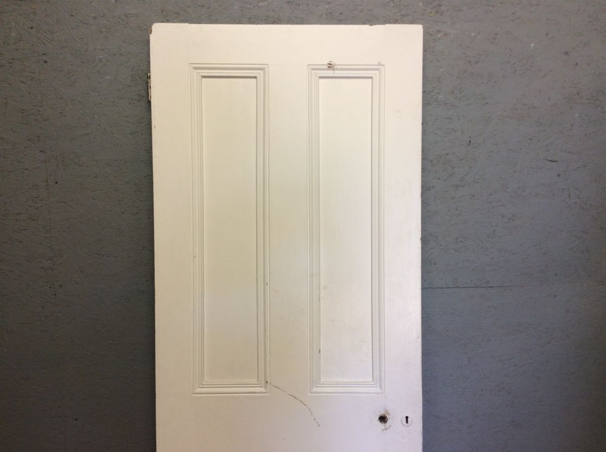 White 4 Panelled Door One Side Inlay