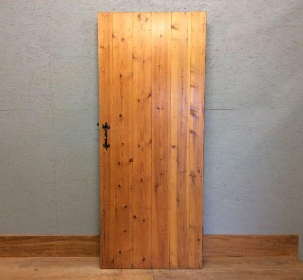 Varnished Ledge & Braced Door