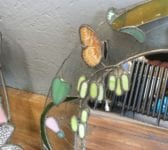Leaded Butterfly Mirror Pair