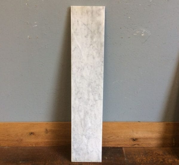 White Marble Hearth Strip