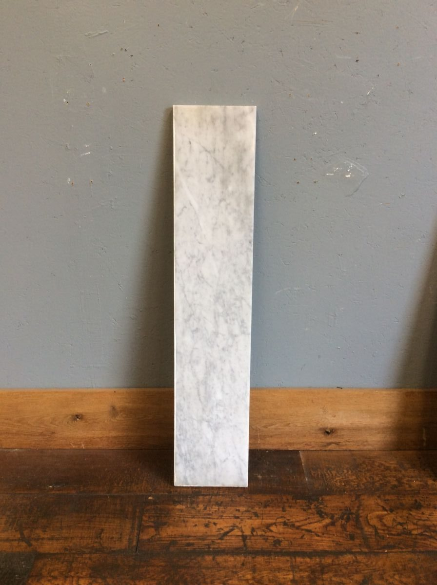 White Marble Hearth Strip Authentic Reclamation