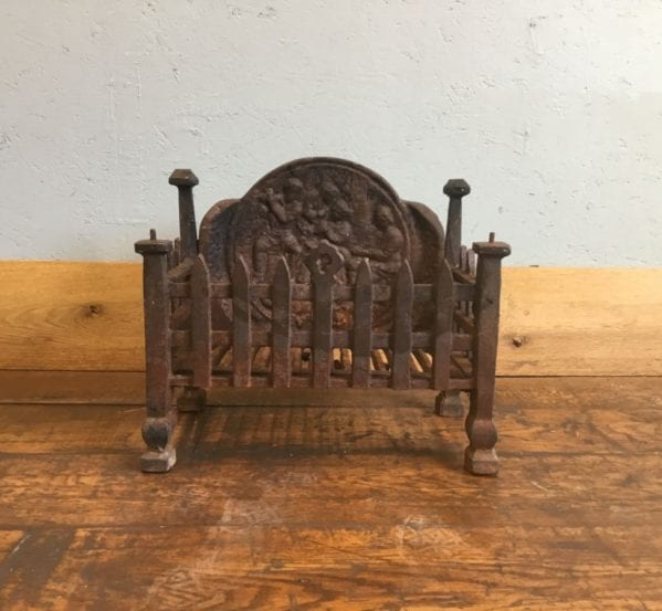 Cast Iron Fire Basket Rounded Back