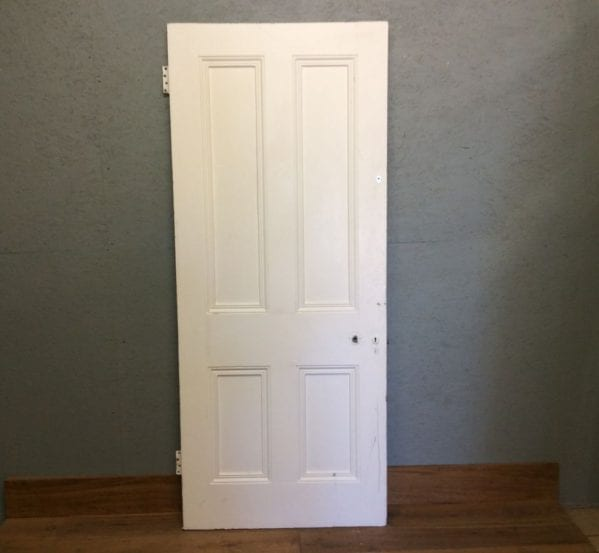 Painted Whited 4 panelled Door