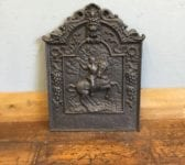 Soldier On Horse Cast Iron Fire Back