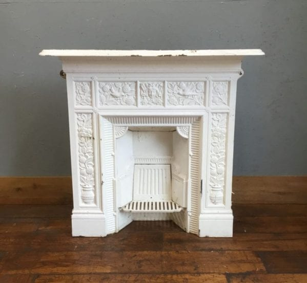 White Cast Iron T. Jeckyll Fireplace