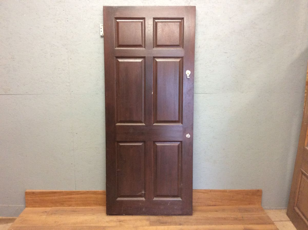 Maroon Hard Wood Front Door