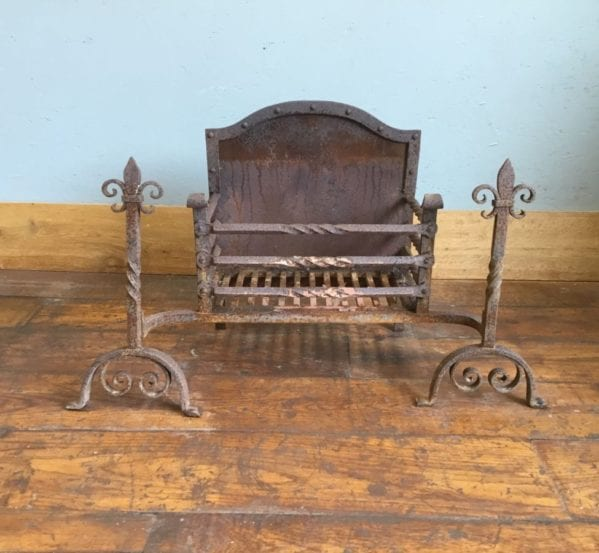 Cast Iron Fire Basket, Dogs & Back