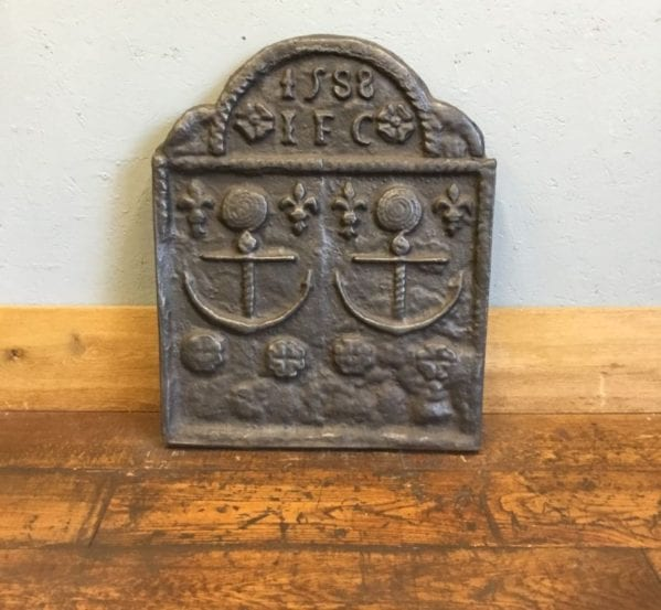 Armada Cast Iron Fire Back Dated 1588