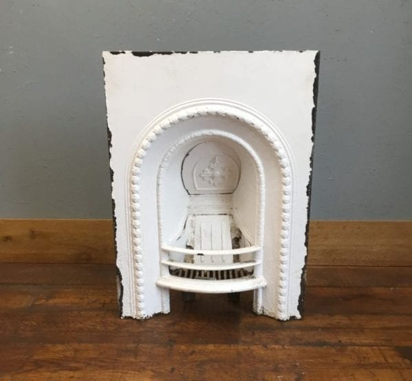 White Painted Metal Fire Insert