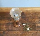 Glass Shade Uplighter Lamp