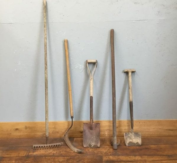 Reclaimed Gardening Tool Selection