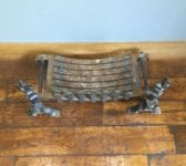 Large Solid Cast Iron Basket & Dogs