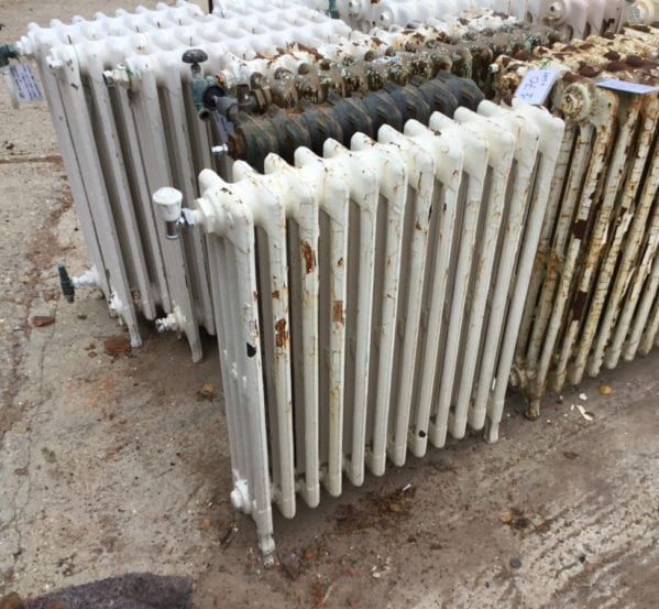 White Reclaimed 4 Bar Mid High Radiator