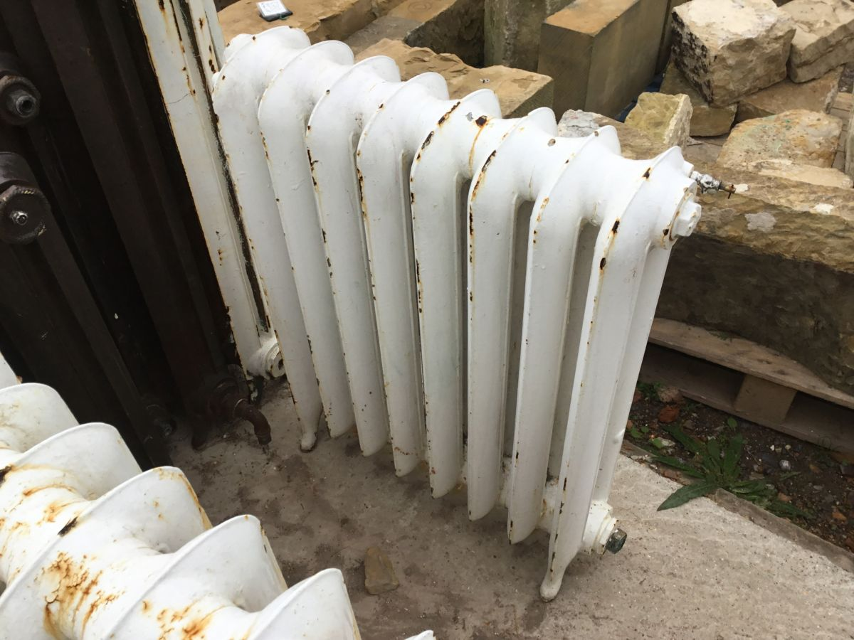 Reclaimed White Painted Princess Radiator