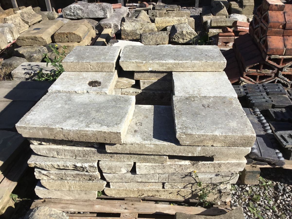 Reclaimed York Stone Coping Slabs