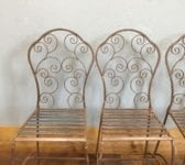Wrought Iron Set Of 4 Garden Chairs