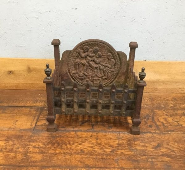 Cast Iron Fire Basket Integrated Fire Back