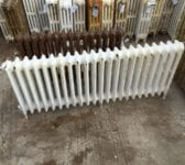 Long 3 Bar Reclaimed Painted Radiator