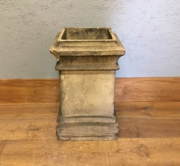 Detailed Reclaimed Buff Square Chimney Pot