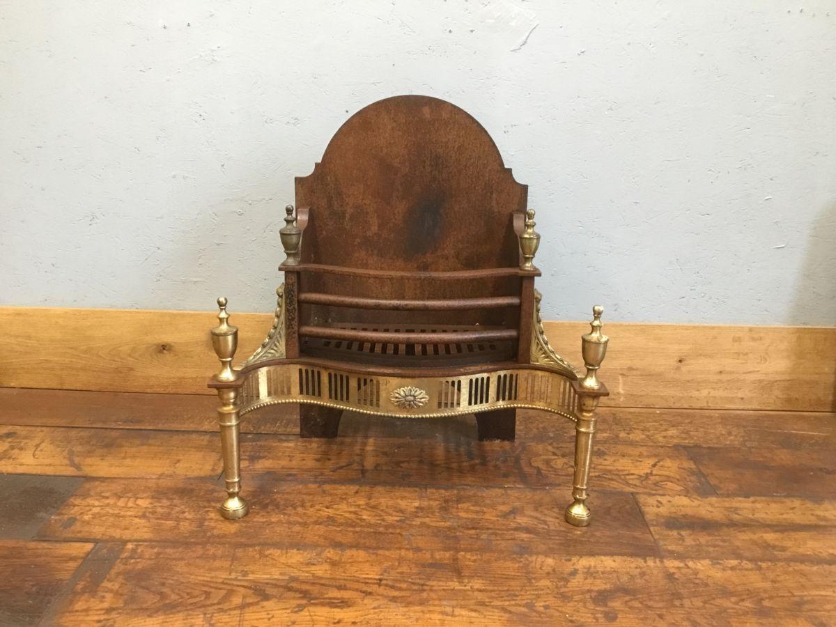 Cast Iron & Brass Regency Style Fire Basket