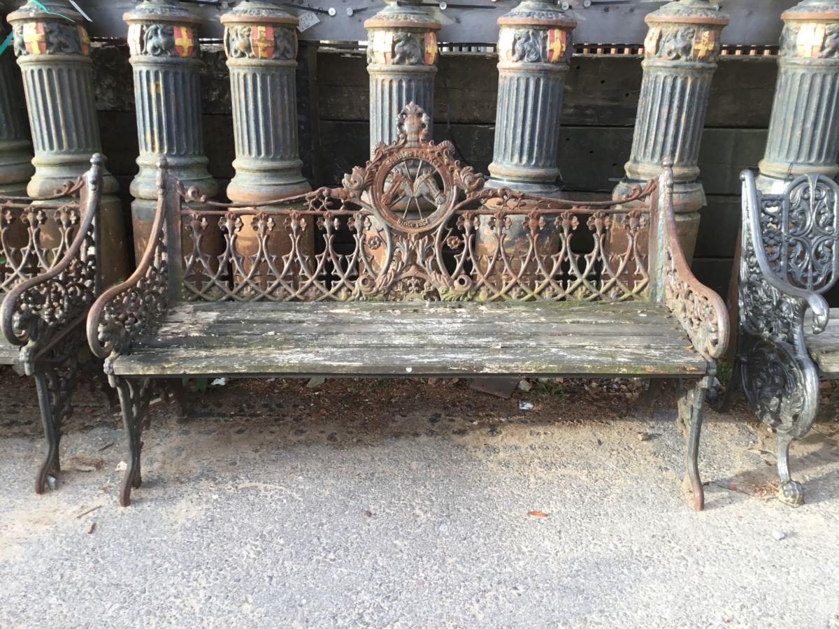 Stables Market Camden Cast Iron Bench