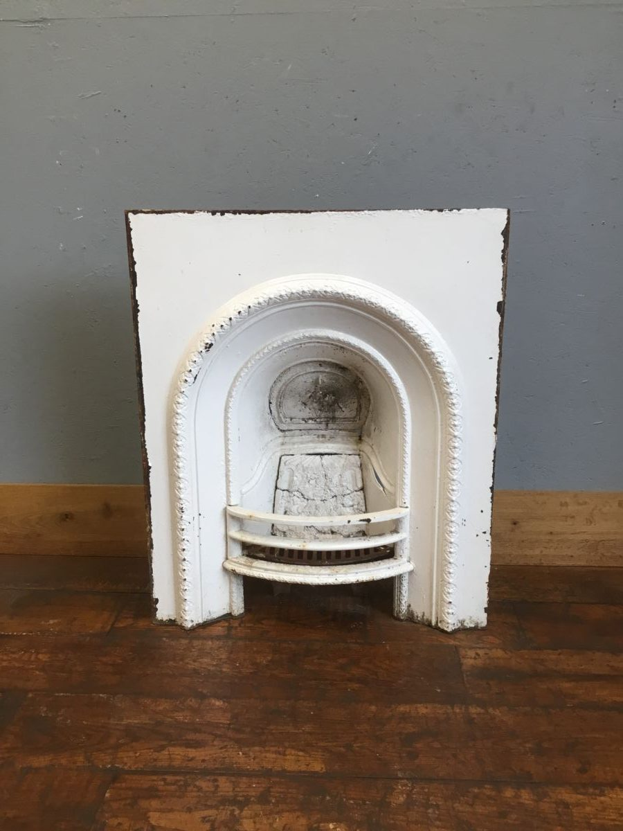 White Painted Fire Insert
