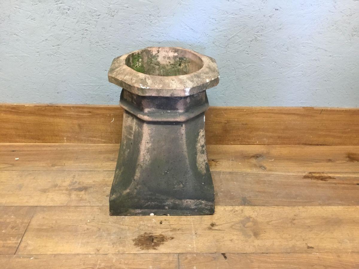 Heavily Weathered Buff Chimney Pot