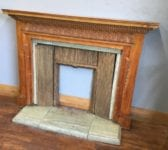 Arts and Crafts Fireplace & Marble Hearth