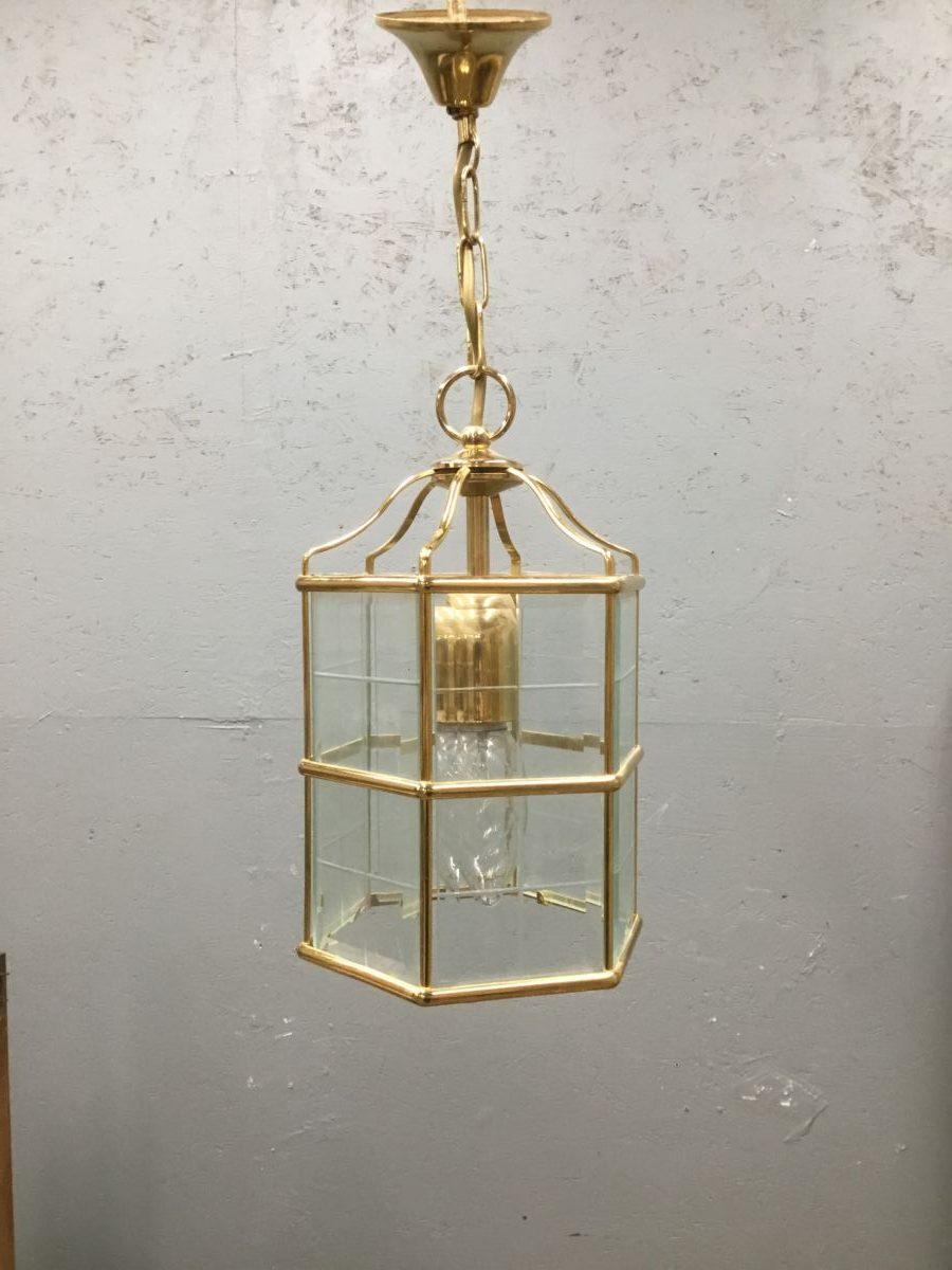 Brass & Glass Six Sided Lantern Light