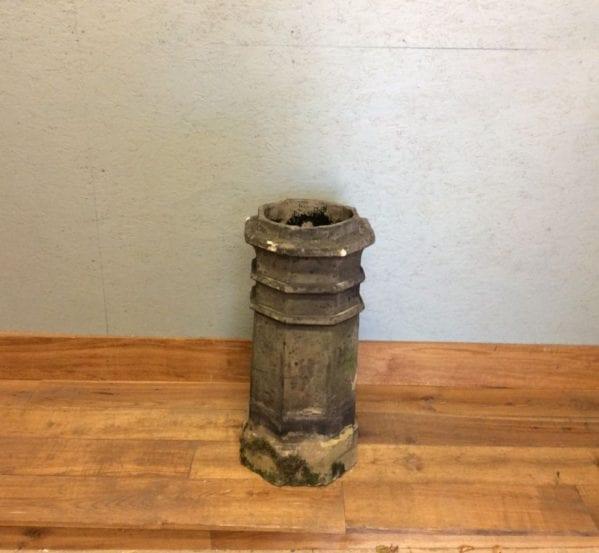 Tall Octagonal Grey Chimney Pot