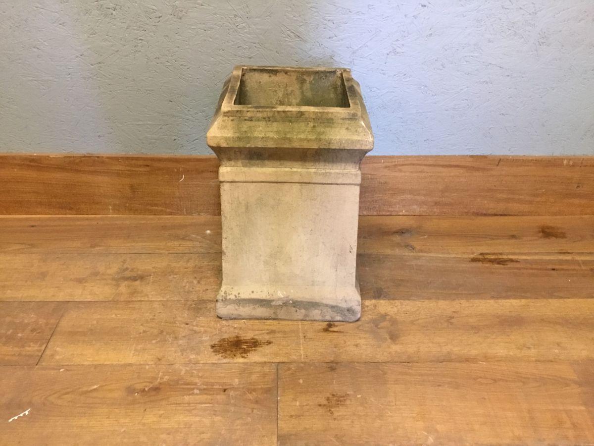 Short Square Buff Reclaimed Chimney Pot