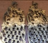 Solid Brass Ornate Lattice Push Plates